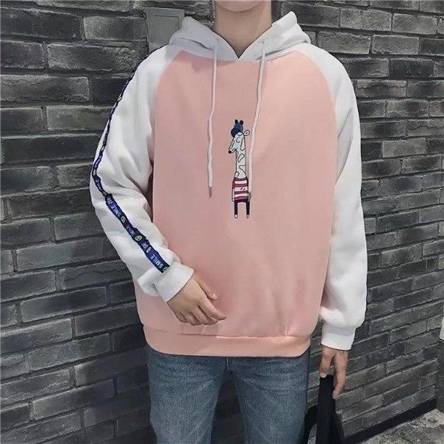 Korean Sweatshirt Men Fashion Hoodies Mens Casual Harajuku Kawaii Anime Hoodie Fashiondresslliy-dresslliy