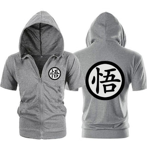 Casual Funny Print Dragon Ball Goku Hoodie Men Black Gray Cosplay Sweatshirtdresslliy-dresslliy