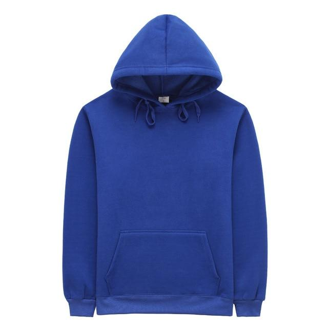 Solid Color thick Fleece Mens Sweatshirts and Hoodies Pullover Casual Blank Hoodydresslliy-dresslliy