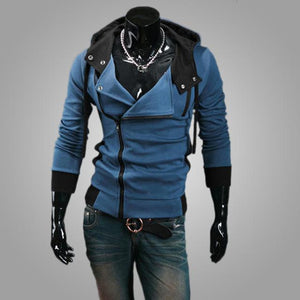 2018 Casual Man Hoodie Sweatshirt Slim Fit Male Zipper Cardigan Hoodies Outerweardresslliy-dresslliy