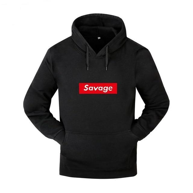 New Mens Hoodies Savage Hoodies Parody No Heart X Savage Mode Slaughterdresslliy-dresslliy