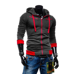 2018 Autumn Man Hoodie Sweatshirt Cardigan Men Casual Zipper Sweatshirt Slim Hoodydresslliy-dresslliy