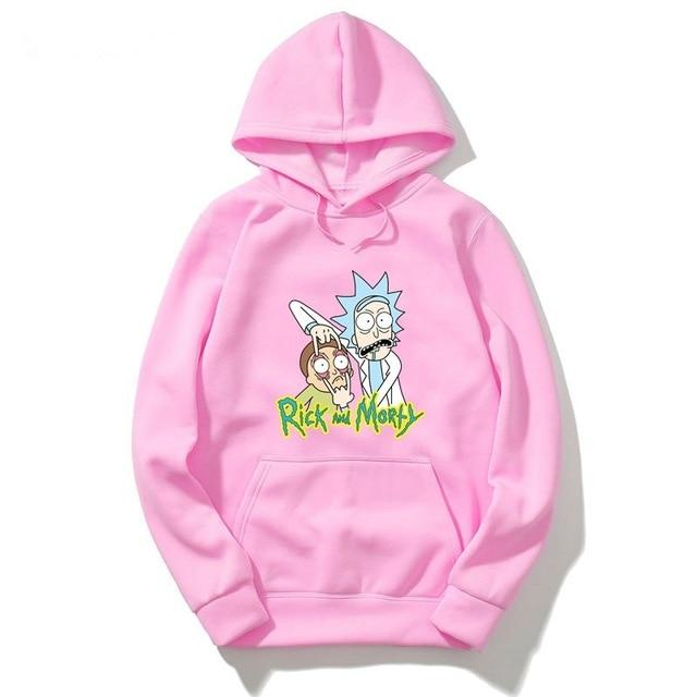 New arrive rick and morty geek Hoodie men women tee anime funnydresslliy-dresslliy