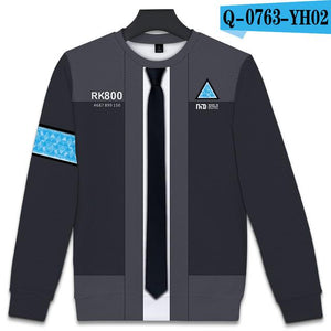 3D Detroit Become Human Hoodies Men's Harajuku Hip Hop Pullovers Punk Styledresslliy-dresslliy