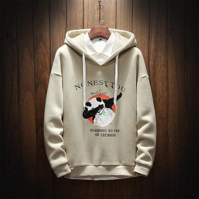 2018 New Spring Autumn Casual Men Hoodies Sweatshirt Patchwork Print Clothes Maledresslliy-dresslliy