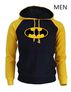 Men's Sportswear Hoody Men 2018 Autumn Winter Raglan Sweatshirt Print BATMAN Harajukudresslliy-dresslliy