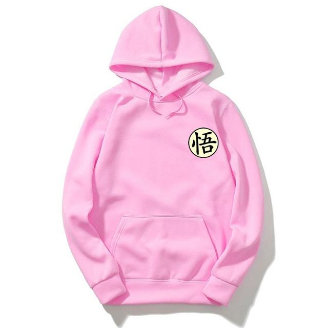 Autumn Winter Pink Hooded Sweatshirt Men/Women Japanese Anime Dragon Ball Z Gokudresslliy-dresslliy