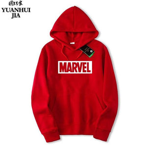Hot 2018 Autumn And Winter Brand Sweatshirts Men High Quality MARVEL letterdresslliy-dresslliy