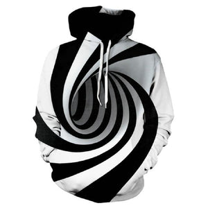 2018 3D Print Newest design Dragon around Skull Pocket Hooded Men/Womendresslliy-dresslliy