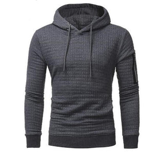 2018 New High-End Casual The Sleeve Zippers Hoodie Men'S Fashion Unique Soliddresslliy-dresslliy
