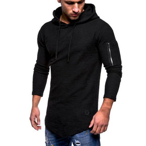 FeiTong Sweatshirt Men's Autumn Winter Hip Hop Pullover Top Blouse Long-sleeves Zipperdresslliy-dresslliy