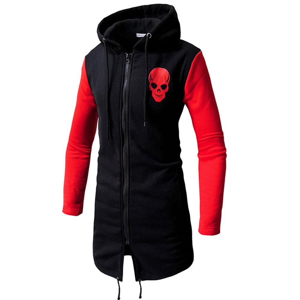 2018 Fashion Autumn Retor Skull Men Bodybuilding Hoodies Sweatshirts Coat Clothing Tracksuitdresslliy-dresslliy