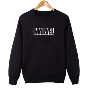 2018 Marvel Sweatshirts Man Women Round Neck Hoodies Comic Japanese Nime Letterdresslliy-dresslliy