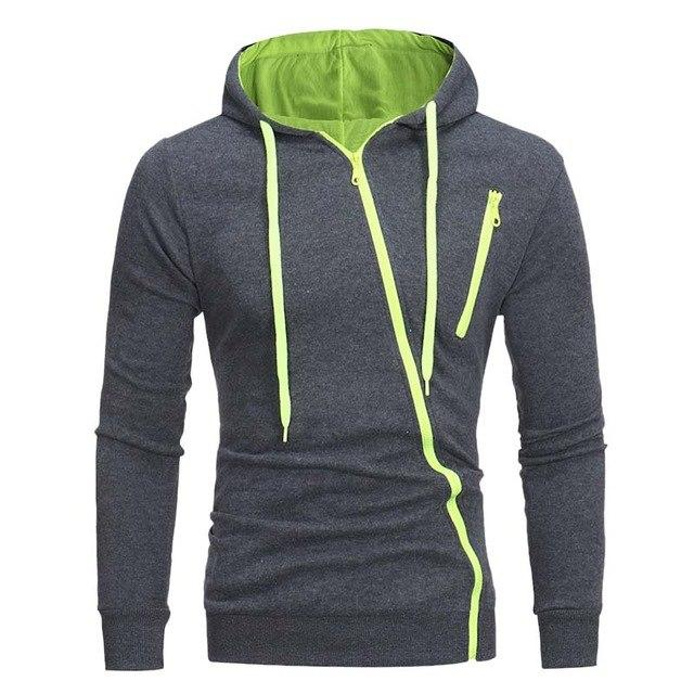 VERTVIE 2018 Autumn Irregular Zipper Hoodies Men Couple Fashion Casual Solid Sweatshirtdresslliy-dresslliy