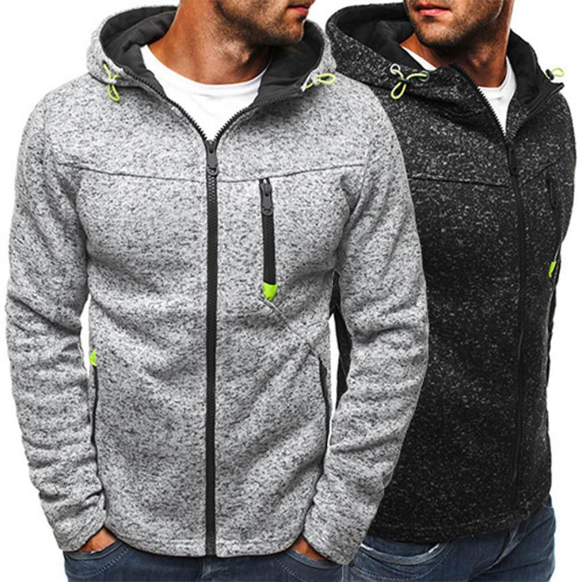 Men's Casual Sweatshirt Men's Zipper Slim Hoodies Sweatshirts Pullover Coat Topsdresslliy-dresslliy
