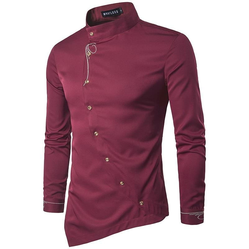 ZYFG FREE 2018 Men's Fashion Cotton shirts Long Sleeved Shirt Solid Colordresslliy-dresslliy