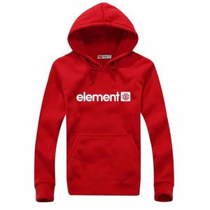 2018 Brand Black Red Sweatshirt Men Hoodies Fashion Solid Fleece Hoodiedresslliy-dresslliy