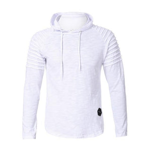 FeiTong Sweatshirts men Fashion Pullover Mens hoodies Autumn Winter Pleats Slim Fitdresslliy-dresslliy