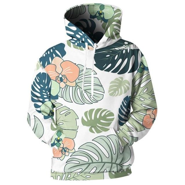 Floral Hooded Own Design Men Women Sweatshirt 3d Print Flower Palmdresslliy-dresslliy