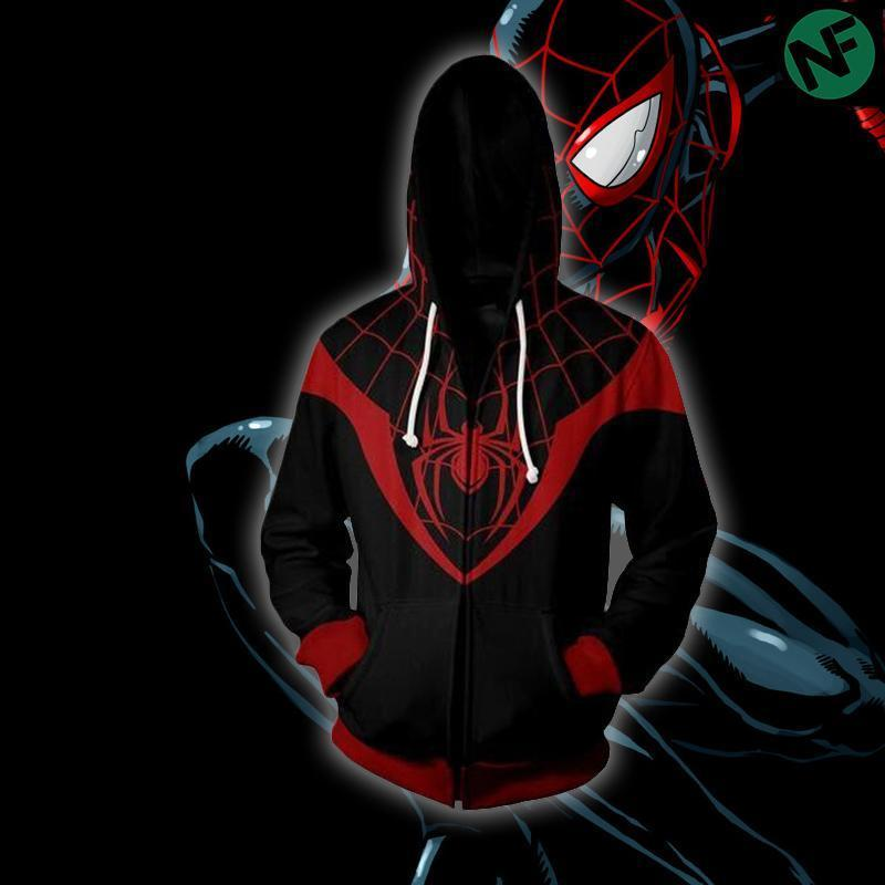 Miles Morales Spiderman Hoodie Unisex hoodie sweatshirts man zipper hoodies top sweatshirtdresslliy-dresslliy