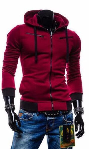 2018 Hot Sale Fashion Cardigan Men Hoodies Jacket Brand Clothing Fashion Zipdresslliy-dresslliy