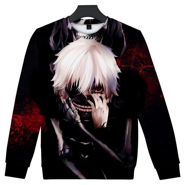 New Arrival 3D Tokyo Ghoul Anime Hoodies 2018 Spring Autumn Sweatshirt Men/Womendresslliy-dresslliy