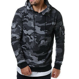 New Men's Hoodies Fashion Casual Cool Camouflage Uniforms Comfortable Slim Long-sleeveddresslliy-dresslliy
