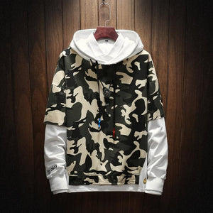 2018 hot men's hoodie camouflage hooded sweatshirt fashion casual men's personalitydresslliy-dresslliy
