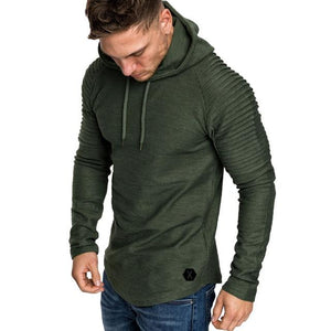 Fashion hoodies Slim Fit Male Men's Autumn Winter Pleats Slim Fit Raglandresslliy-dresslliy