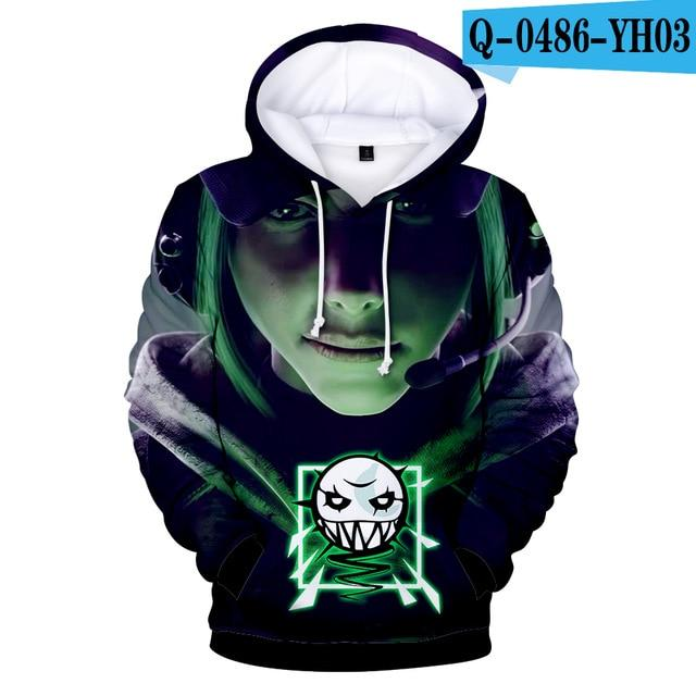 2018 Hot New Game Rainbow Six Siege 3D Hoodies Men/women Fashion Hipdresslliy-dresslliy