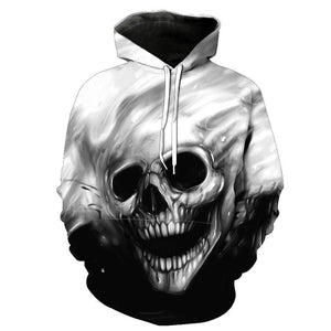 NEW 2018 Autumn Winter Fashion Men/women Hoodies Red eyes Skull headdresslliy-dresslliy