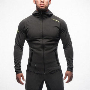 Men fitness bodybuilding Camouflage sweatshirt Hoodie Gyms workout Hooded zipper jacket maledresslliy-dresslliy
