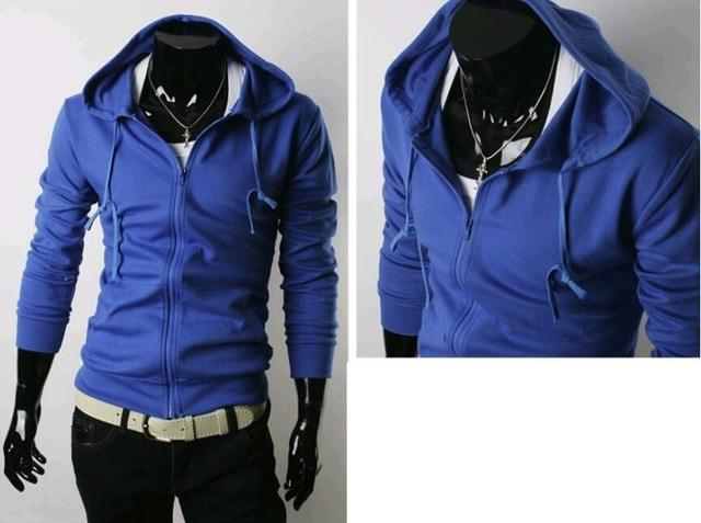 Wholesale Men Hoodie Long Sleeve Sweatshirt 2018 Winter Brand Solid Color Zipperdresslliy-dresslliy