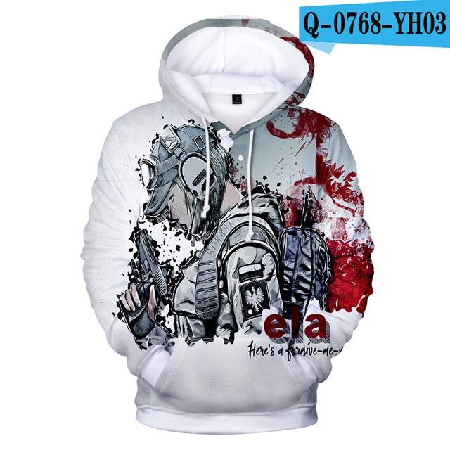 2018 Hot Game Rainbow Six Siege 3D Hoodies Men/women Fashion 3D Printdresslliy-dresslliy