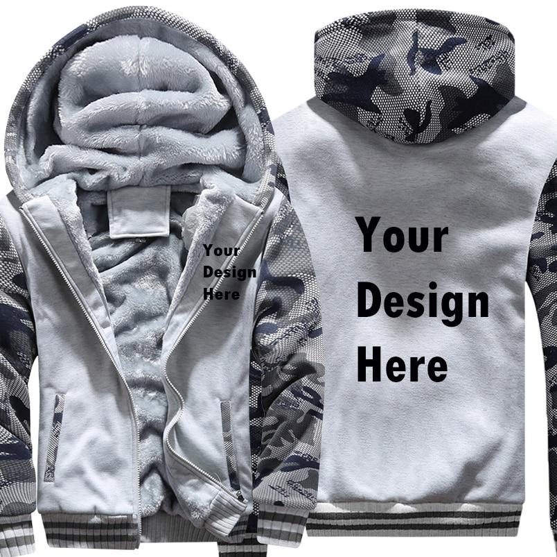 2018 Personalized DIY Logo Print Mens Hoodies And Sweatshirts Thicken Army Camodresslliy-dresslliy