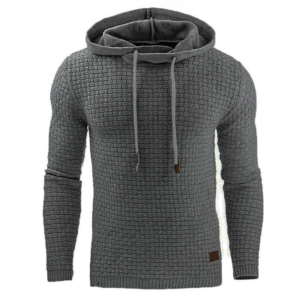 2018 Casual Hoodie Men Hot Sale Plaid Jacquard Hoodies Fashion Military Hoodydresslliy-dresslliy