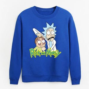 streetwear hip-hop hoodies for men white gray long sleeve sweatshirts Rick anddresslliy-dresslliy