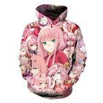 DARLING In The FRANK Hoodies Hipster Anime Zero Two Hoody Unisexdresslliy-dresslliy
