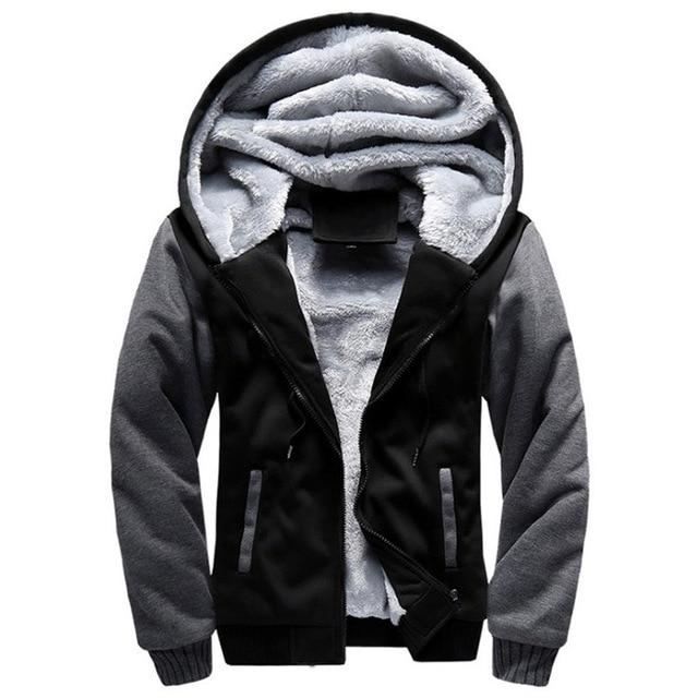 2018 New Men Hoodies Winter Thick Warm Fleece Zipper Men Hoodies Coatdresslliy-dresslliy