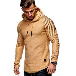 Newest 2019 Muscle Mens Long Sleeve Casual Slim Fit Hooded Sweatshirts Autumndresslliy-dresslliy