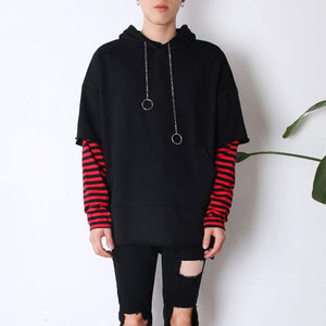 Hip-hop jacket 1Pcs Splicing hoodies stripe Camouflage Men's Hoodiesdresslliy-dresslliy