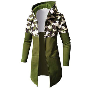 FeiTong Camo Male Sweatshirts Men Autumn Winter Casual Camouflage Zipper Long Sleevedresslliy-dresslliy
