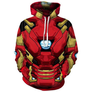 Superhero The Avengers 3 Spiderman Iron Man Hoodies Iron Spider man Venomdresslliy-dresslliy