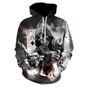 Fashion Sweatshirt Men 2018 3D Print Milk Wolf Hoodies Men Long Sleevedresslliy-dresslliy