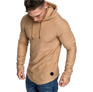2018 Autumn New Fashion Mens Hoodies Brand Men Solid Color Hooded Slingdresslliy-dresslliy