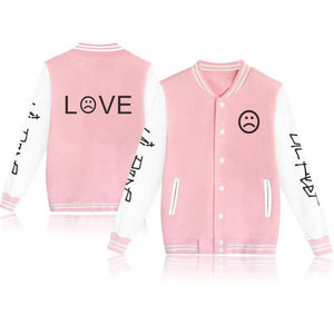 Waidx Lil Peep LOVE Baseball Jackets Men Button Streetwear Hot Students Fansdresslliy-dresslliy