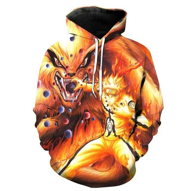 Digital 3D anime print fashion boutique unisex Naruto hoodie cool high qualitydresslliy-dresslliy