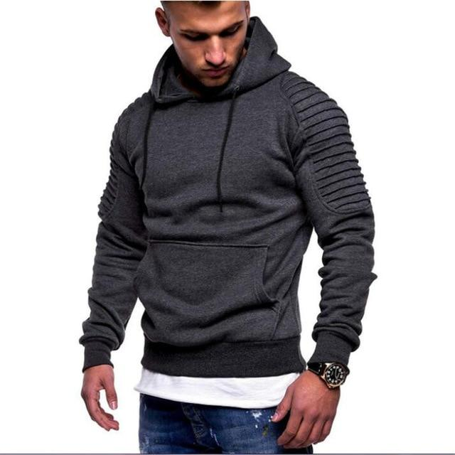 2018 Autumn Winter Hoody Plus Size Men Hoodies Fashion Solid Color Hoodeddresslliy-dresslliy