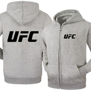Spring and Autumn MMA UFC Clothes Zipper Hooded Men Fashion Hooded Fleecedresslliy-dresslliy