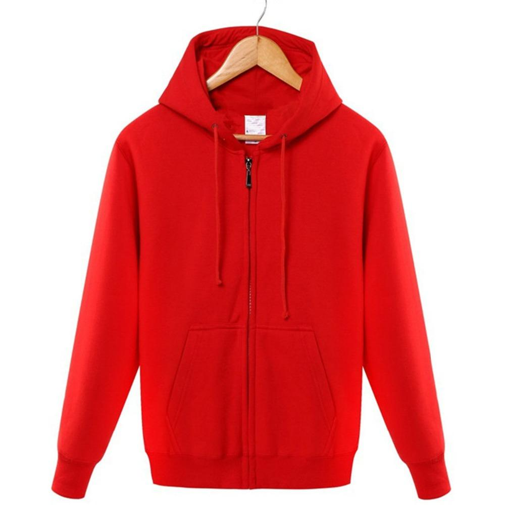 Winter 2018 cotton zipper hoodie street hip-hop red black powder zipperdresslliy-dresslliy